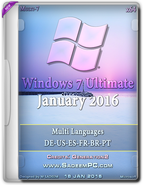 Windows 7 Ultimate SP1 X64 MULTi-6 OEM ESD Jan 2016