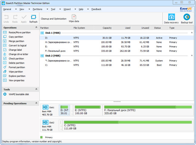 easeus partition full