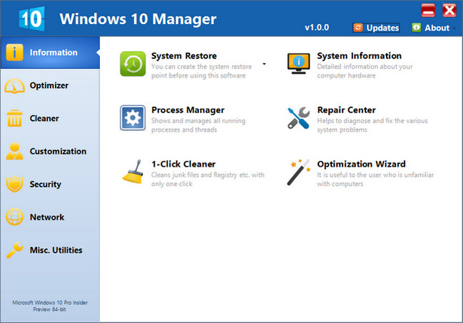 Yamicsoft Windows 10 Manager Full Crack