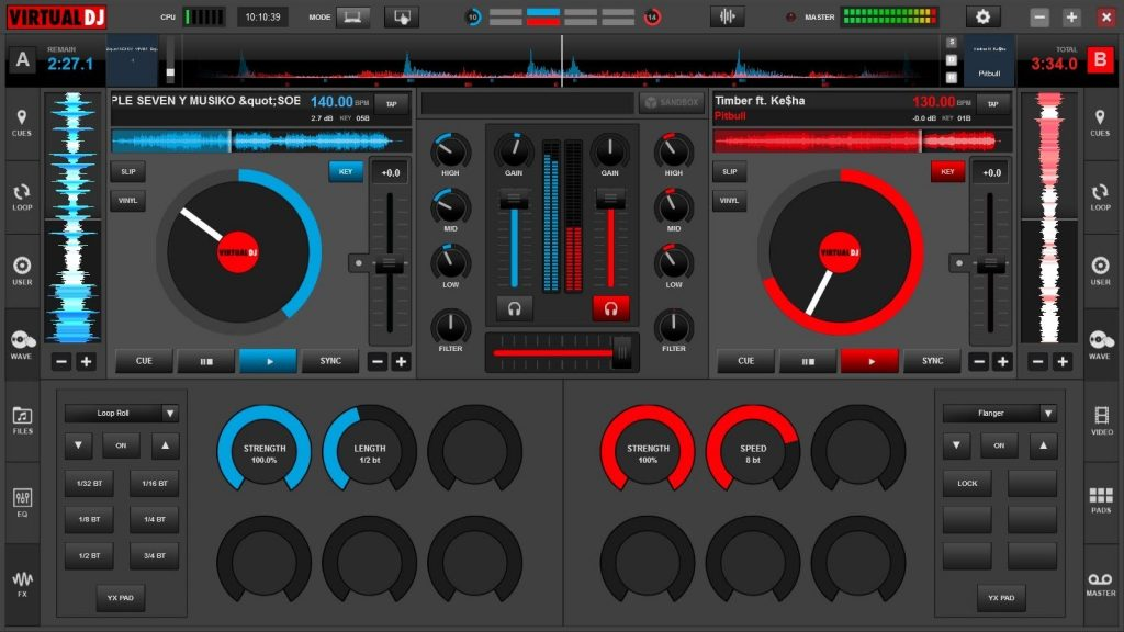how to set volumn of song in virtual dj